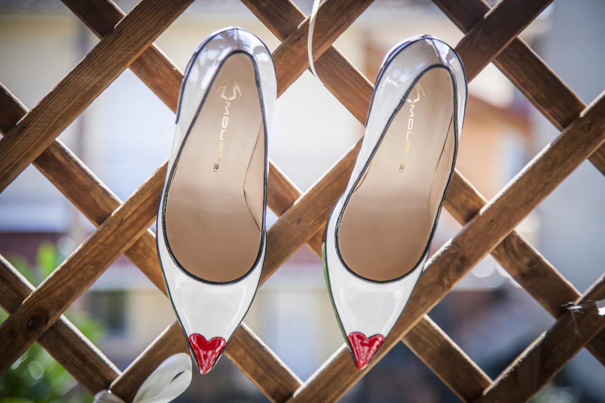 partecipazioni di matrimonio scarpe da sposa