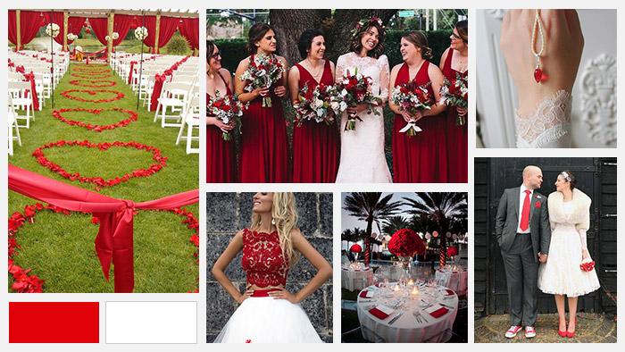 Matrimonio In Rosso : Abbinare i colori matrimonio rosso love the date