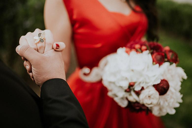matrimonio rosso come abbinare i colori