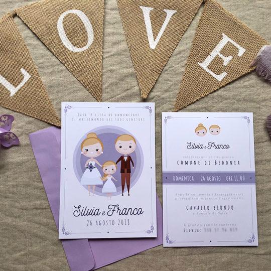 Matrimonio In Lilla : Silvia franco partecipazioni matrimonio originali love the date