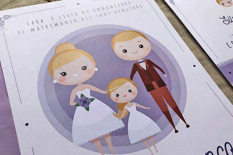 come fare le partecipazioni di nozze con figli