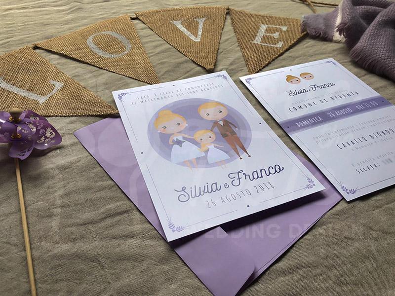 partecipazioni di nozze con figli